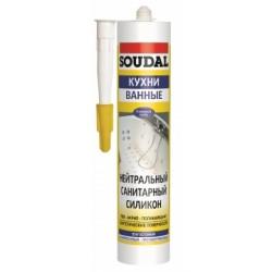 Герметик Соудал Profil санитарный силиконовый белый, 280мл